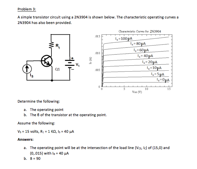 Electrical engineering archive march 06 2017 chegg problem 3 a simple transistor circuit using a 2n3904 is shown below the characteristic fandeluxe Gallery
