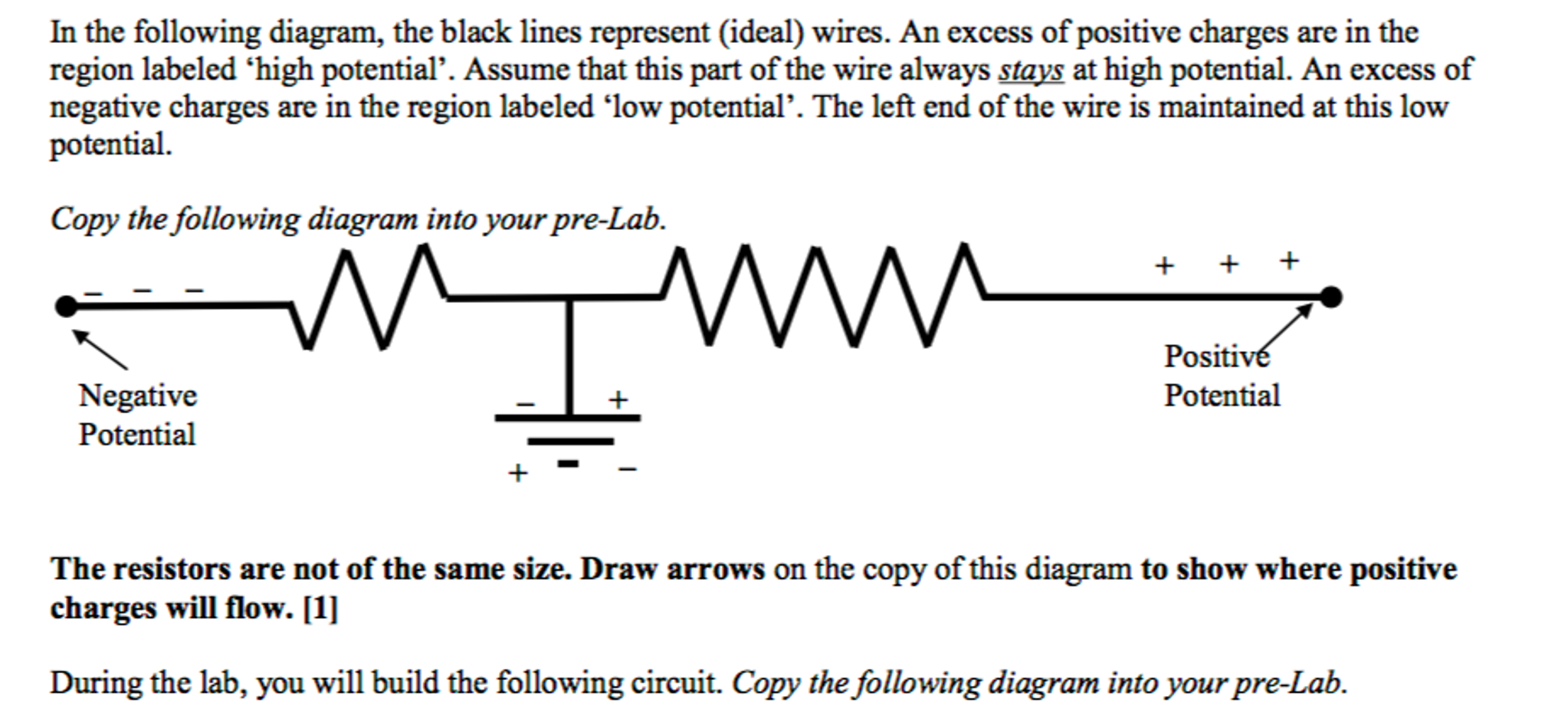 solved in the following diagram, the black lines represen  in the following diagram, the black lines represent (ideal) wires an excess