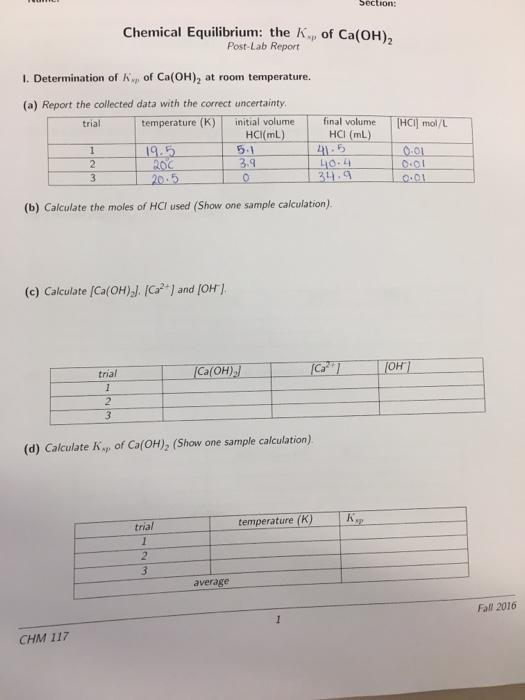 chemical equilibrium lab report