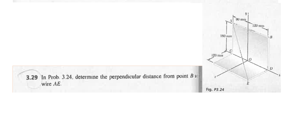 Solved In Prob 3 24 Determine The Perpendicular Distance