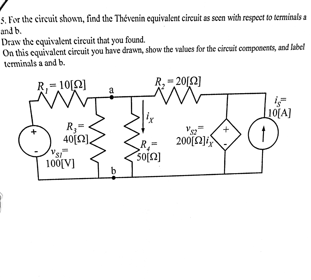 Circuit Diagram With Labels Wiring Library And The Shown Find Thvenin Equivalent As Seen Respect To Terminals