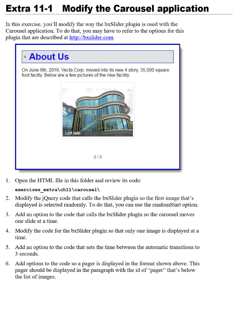 Index html: BxSlider Plugin $(document) ready(func