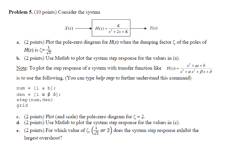 Solved problem 5 10 points consider the system xs y problem 5 10 points consider the system xs y ccuart Choice Image