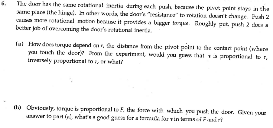 Solved: Me Rotational Inertia During Each Push, Because Th