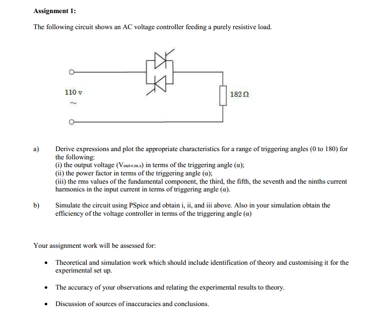 solved the following circuit shows an ac voltage controll rh chegg com