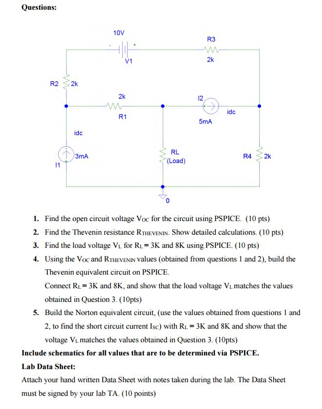 solved find the open circuit voltage voc for the circuit rh chegg com