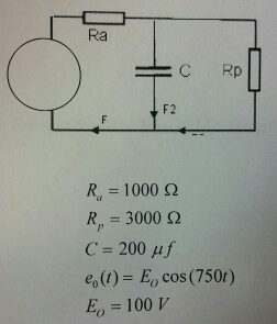 Solved: The Circuit Is An RCR Circuit That Is Subject To A