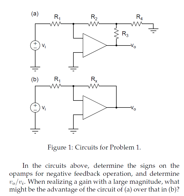 Solved: (a)R 2 4 0 (b)R 0 Figure 1: Circuits For Problen I ...