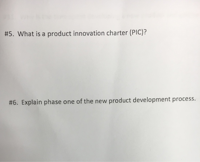 product innovation charter Report on product innovation charter of a manufacturing company 2244 words | 9 pages develop new products for nine different reasons but the company must know for.