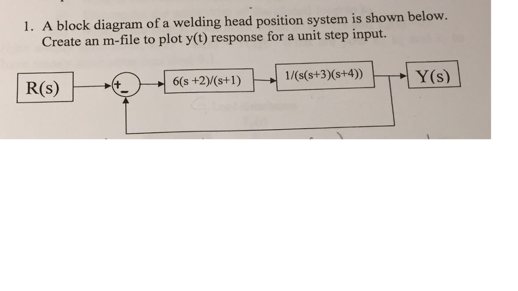[FPWZ_2684]  Solved: 1. A Block Diagram Of A Welding Head Position Syst... | Chegg.com | Welding Block Diagram |  | Chegg