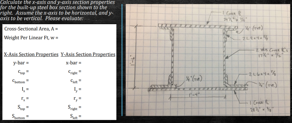 Calculate The X-axis And Y-axis Section Properties