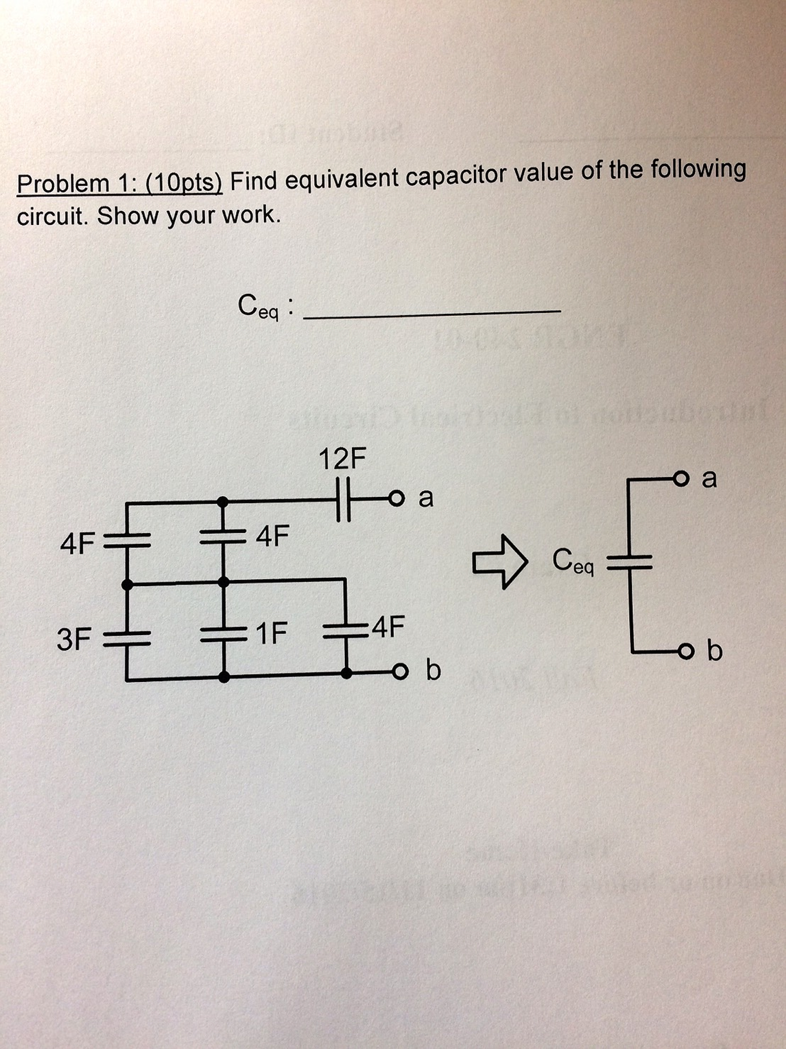 Solved Find Equivalent Capacitor Value Of The Following C How Do Capacitors Work In A Circuit