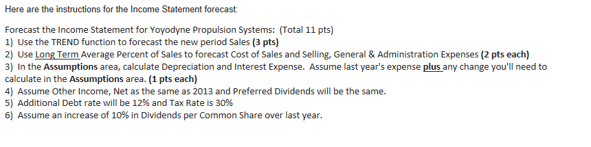 Solved Here Are The Instructions For The Income Statement