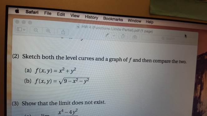 Solved: Sketch Both The Level Curves And A Graph Of F And