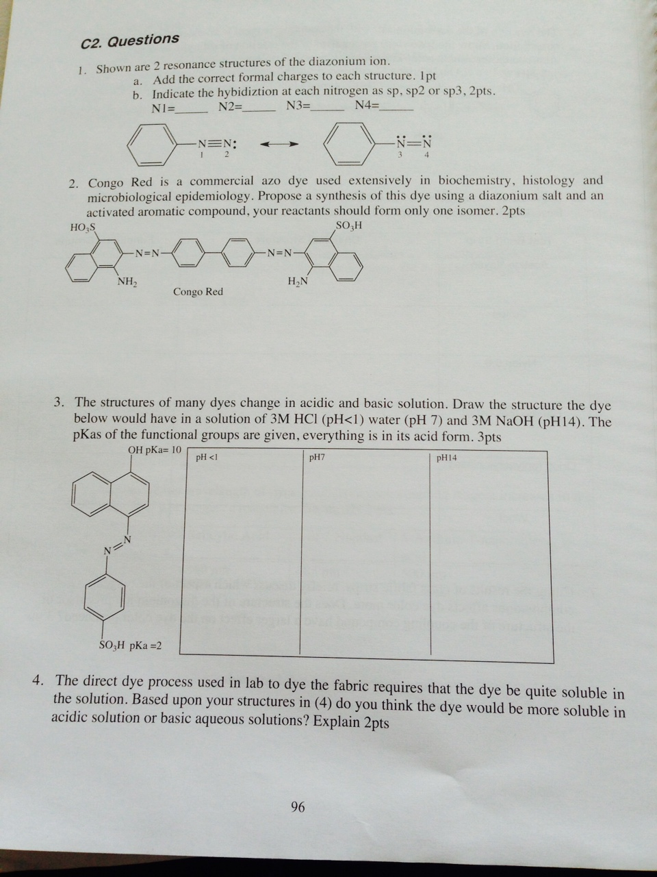 Lewis Structure For C2h4cl2 Solved: C2. Que...