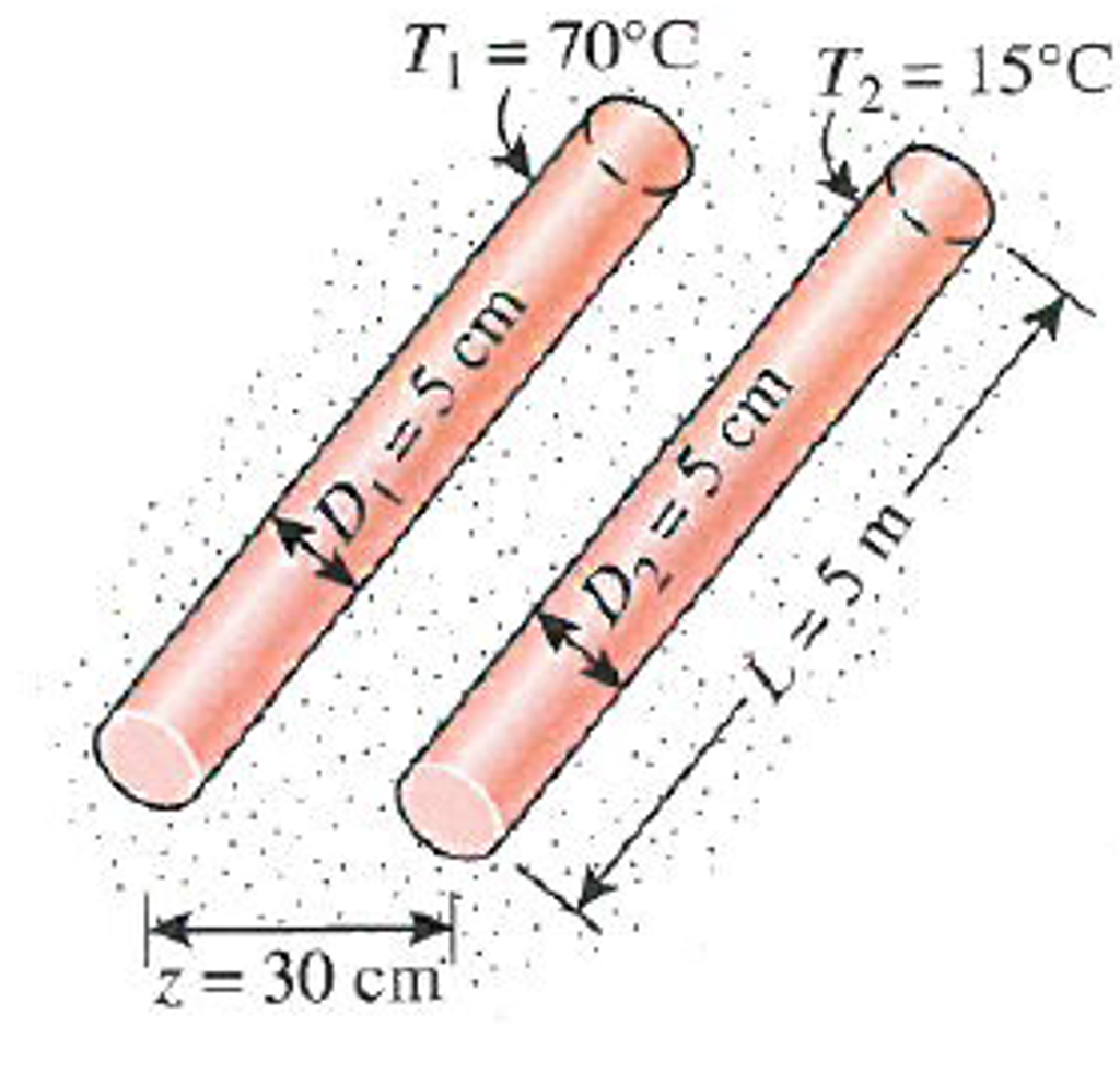 Expert Answer  sc 1 st  Chegg & Solved: A 5-m-long Section Of Hot- And Cold-water Pipes Ru ...