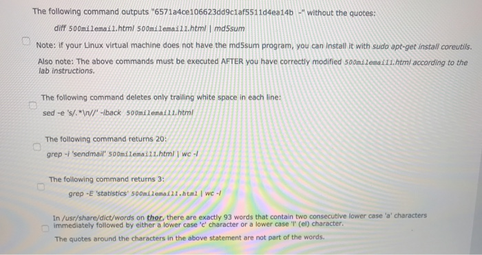 question 2 1 point in your linux virtual machine chegg com
