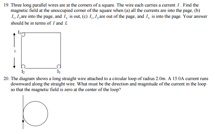 solved three long parallel wires are at the corners of a rh chegg com