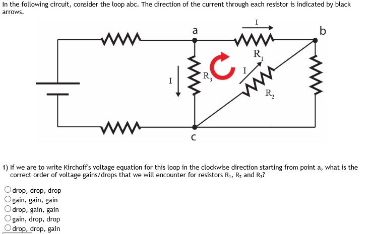 solved in the following circuit consider the loop abc t rh chegg com Resistor Symbol Series Circuit Diagram