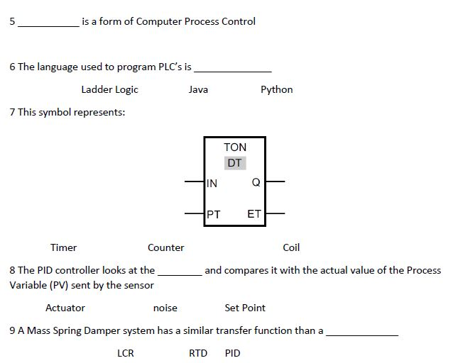 Solved Is A Form Of Computer Process Control 6 The Langua
