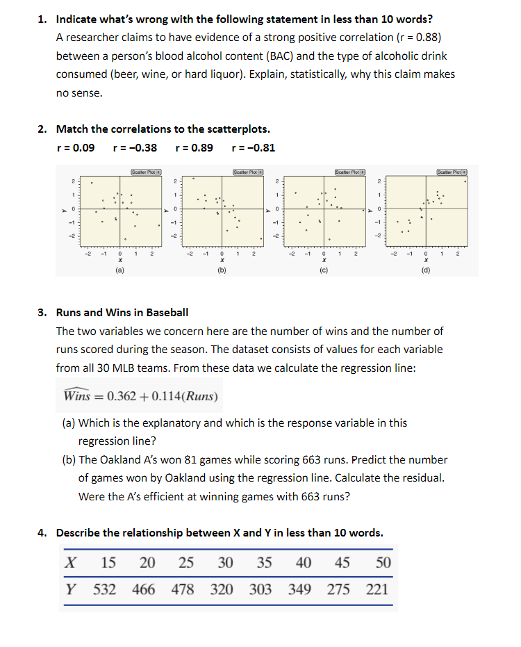 Solved: I Need Help With These 4 Statistics Problems  For