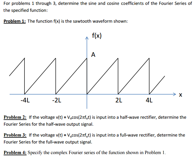 Solved: For Problems 1 Through 3, Determine The Sine And C