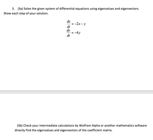 Solved: Solve The Given System Of Differential Equations U