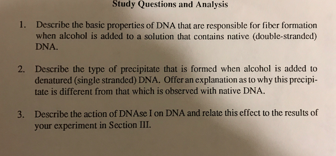Solved: Describe The Basic Properties Of DNA That Are Resp