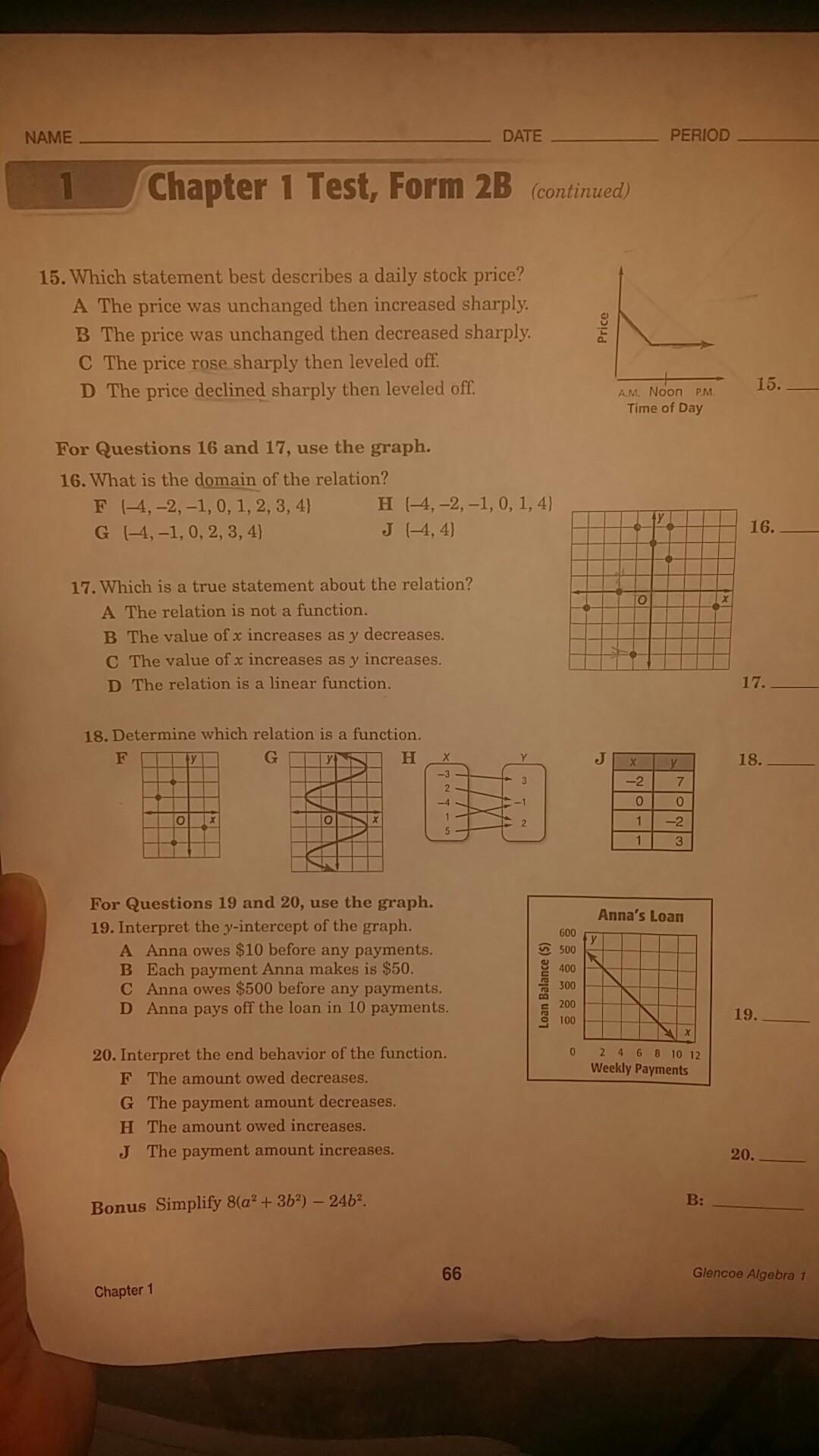Test form 2b