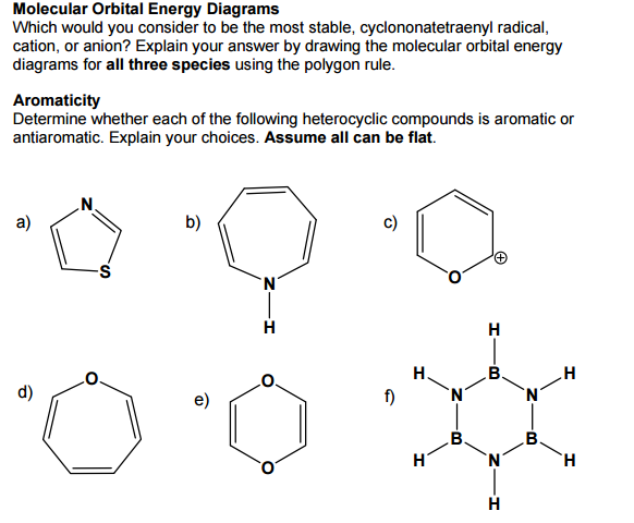 Solved Molecular Orbital Energy Diagrams Which Would You
