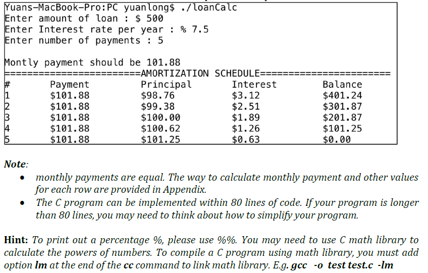 loan amortization table bankrate