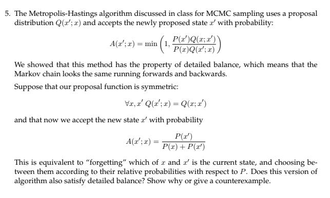 5  The Metropolis-Hastings Algorithm Discussed In