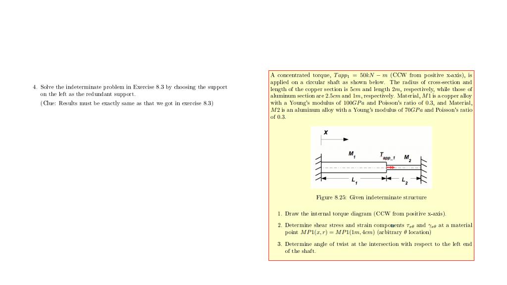 scegli l'autorizzazione qualità stabile bello design Solved: A Concentrated Torque, Tappi -50kN M (CCW From Pos ...