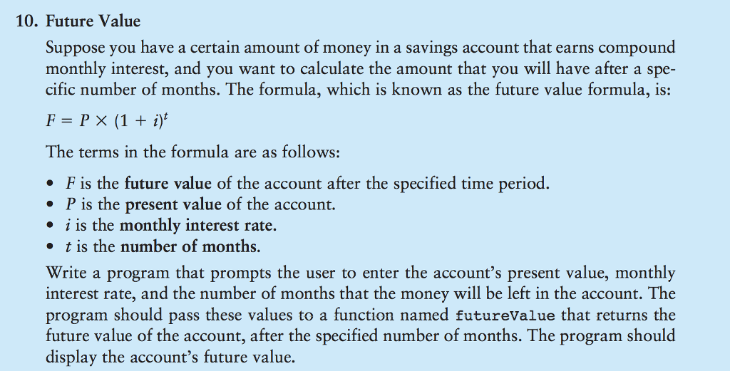 future value suppose you have a certain amount of money in a savings account