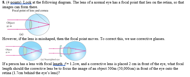 Solved look at the following diagram the lens of a nor 4 points look at the following diagram the lens of a ccuart Choice Image
