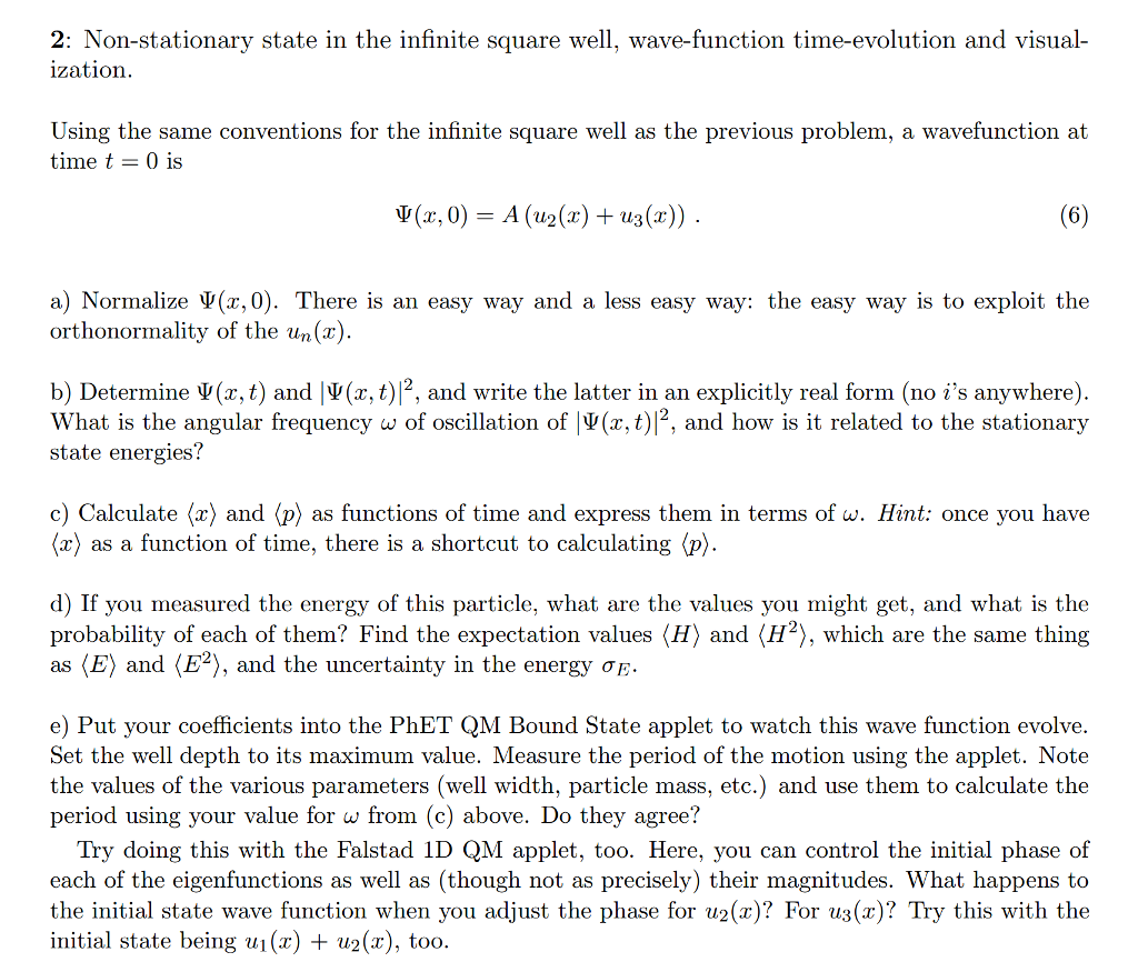 2: Nonstationary State In The Infinite Square Well, Wavefunction Time How  To Find The Surface Area