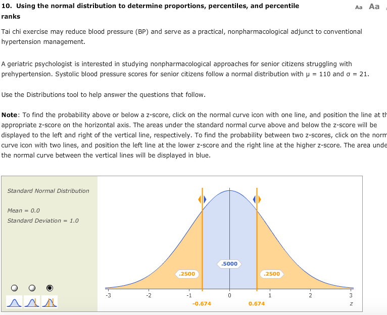 Solved 10 Using The Normal Distribution To Determine Pro