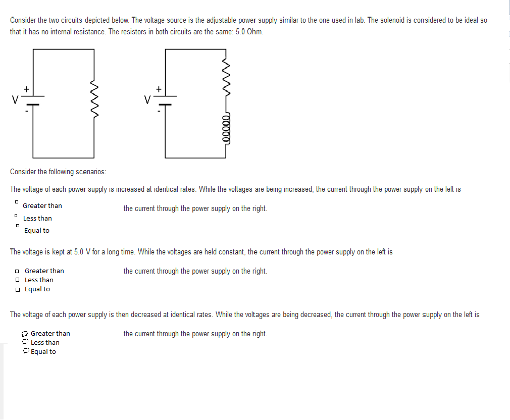 Solved Consider The Two Circuits Depicted Below Volt Variable Voltage And Current Power Supply