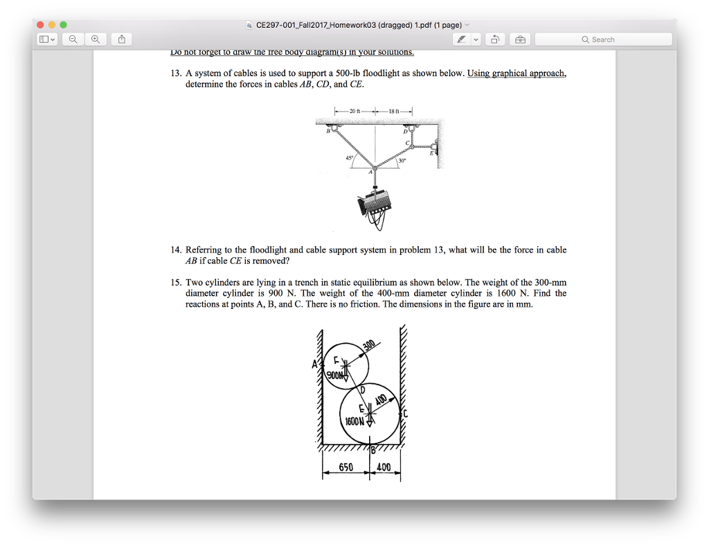 static equilibrium problems and solutions pdf