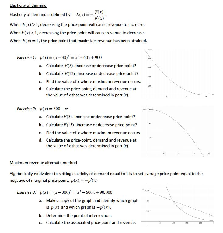questions on price elasticity Price elasticity of demand and price elasticity of supply are two of the most important concepts of microeconomics, but they're generally explained from a hypothetical standpoint, and little effort.