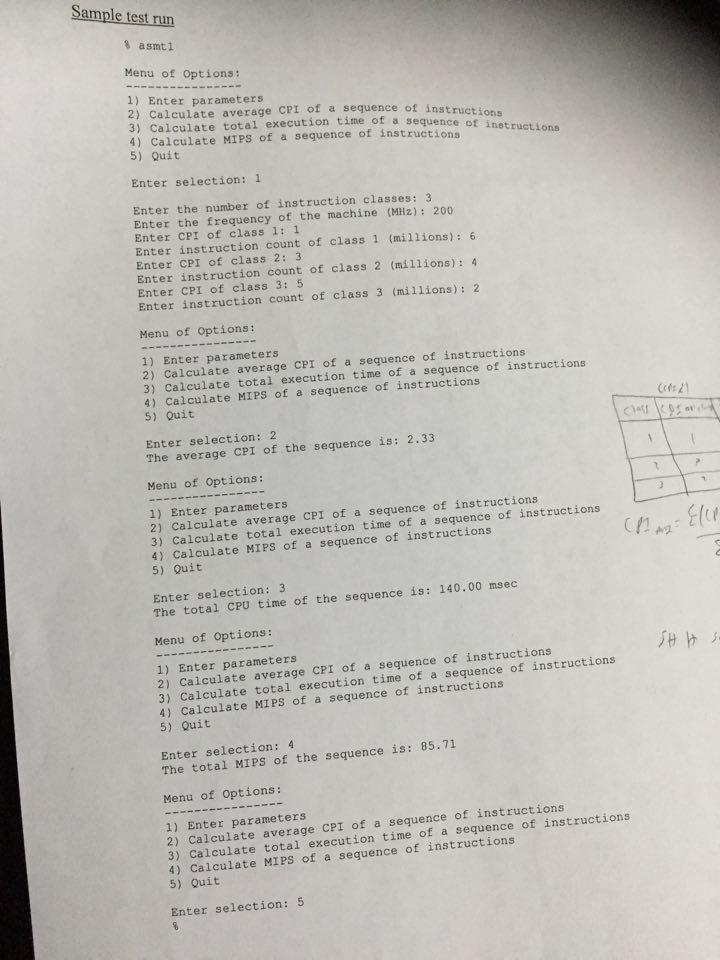Performance Metrics Assignment Computer Organiza Chegg