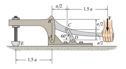 Solved: A Force, F, Is Applied To The Toggle Clamp At The