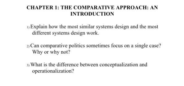 Solved Explain How The Most Similar Systems Design And Th Chegg Com