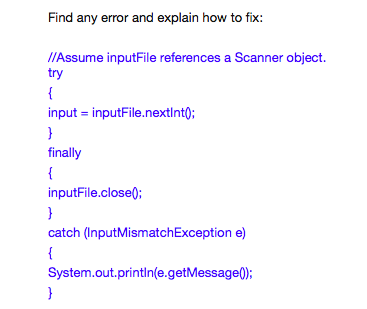 Solved: Find Any Error And Explain How To Fix: //Assume In