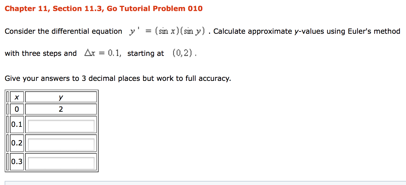 Solved: solve the following equations with the: i) implici.