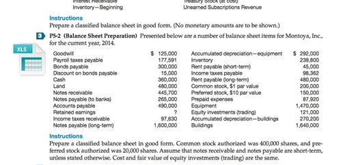 Cost U Less >> Solved: Prepare A Classified Balance Sheet In Good Form. (... | Chegg.com