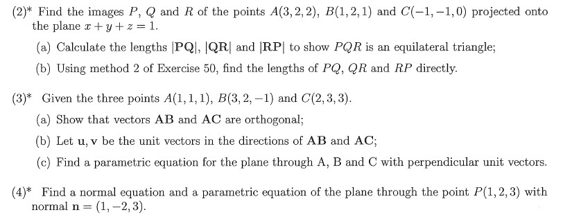 Find the images P, Q and R of the points A(3, 2, 2