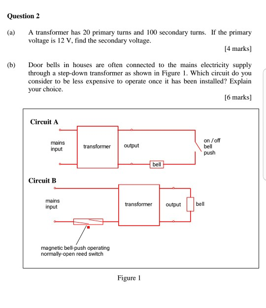 Solved Question 2 A Transformer Has 20 Primary Turns And