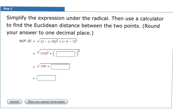 Solved: Simplify The Expression Under The Radical  Then Us