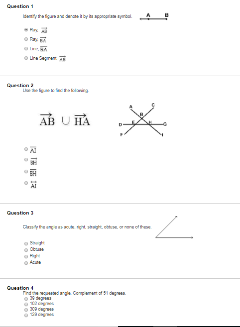 Solved Question 5 Identify The Name Of The Angles Labeled